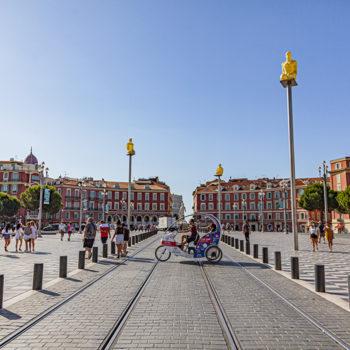 La place Masséna à Nice