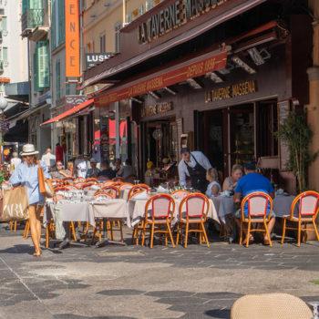 Les restaurants de la zone piétonne