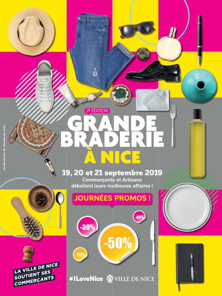 Affiche Grande Braderie à Nice, du 19 au 21 septembre 2019