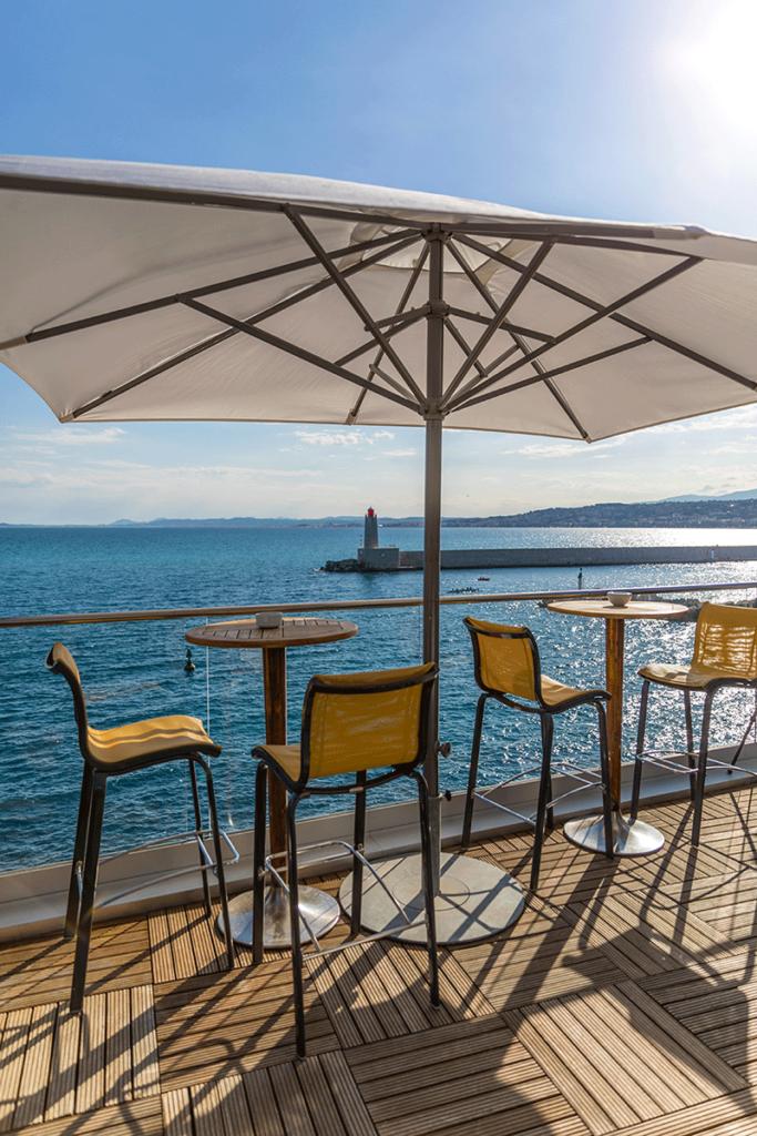 La Réserve Rooftop vue sur le port de Nice