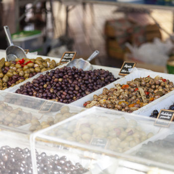 Locally-produced olives