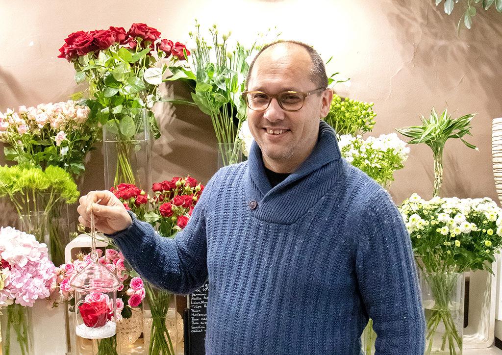 Frédéric Estronca, fleuriste sur Borriglione