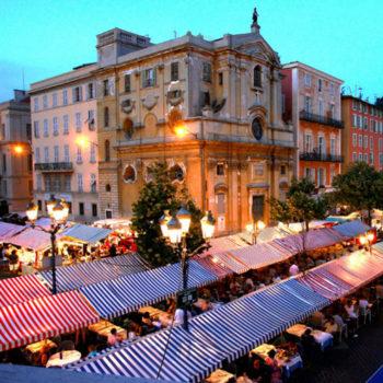 Late night Cours Saleya market