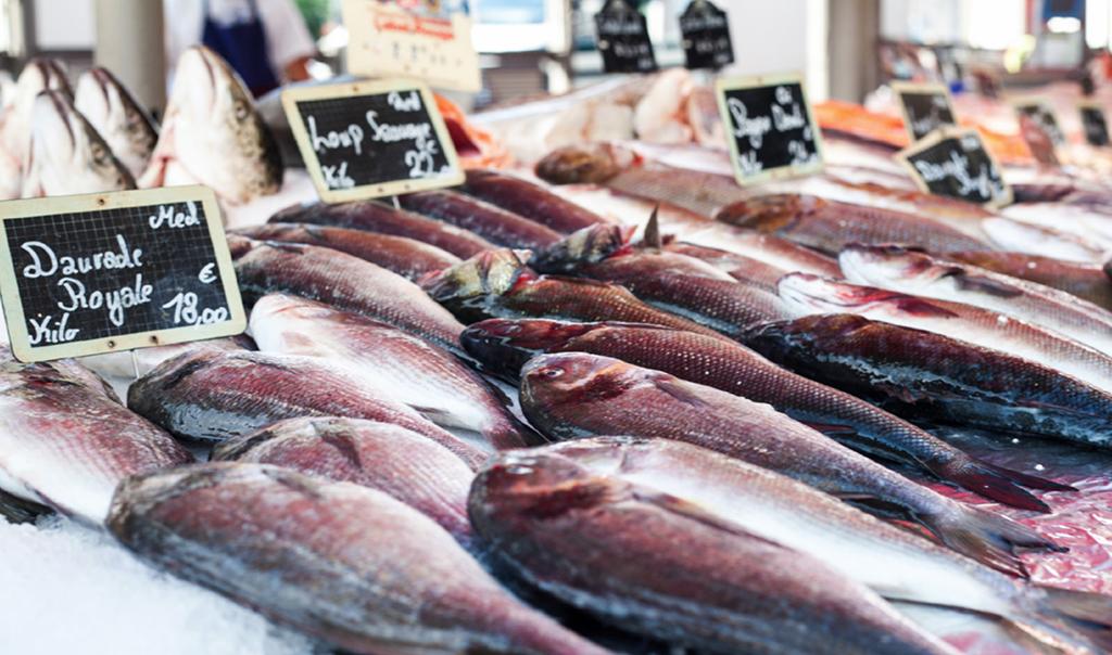 poissons du marché de Libération